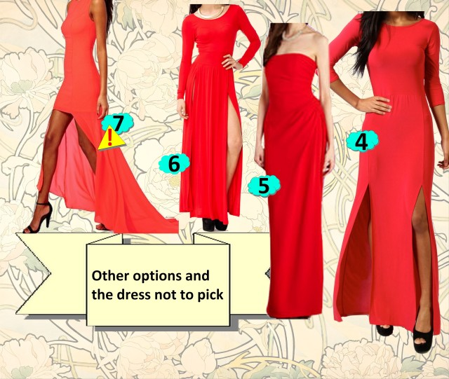 Miranda's red dress other options